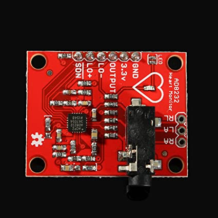 Bluelover Único Plomo Ad8232 Pulso Pulsómetro Monitor Ecg Kit Módulo Para Arduino: Amazon.es: Hogar