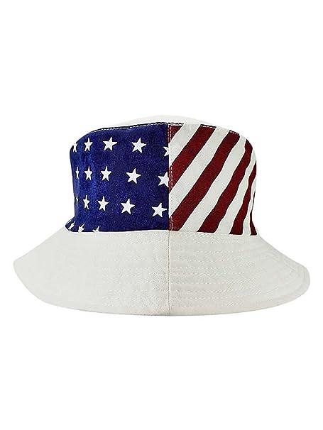 f3cbf0a76dbae1 Luxury Divas White American Flag Print Reversible Bucket Hat at ...