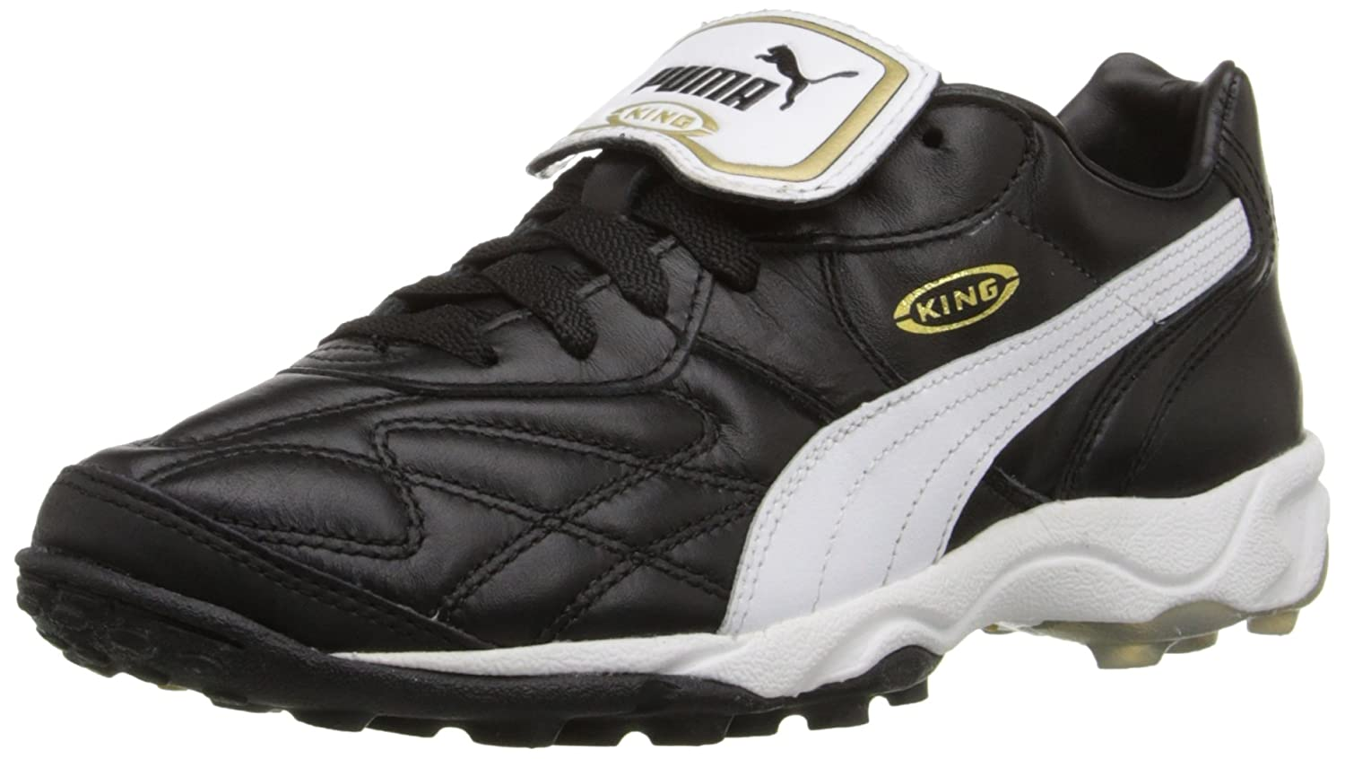 PUMA Men's King Allround TT Soccer Cleat B0009RSSHQ 8.5 D(M) US|Black/White/Gold