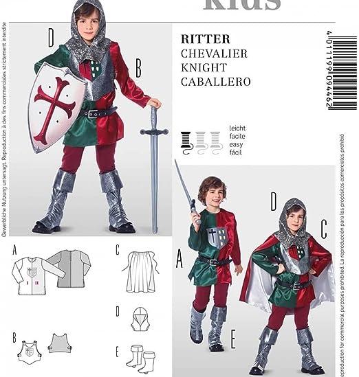 Patrón disfraz niño Caballero – Burda 9446: Amazon.es: Hogar