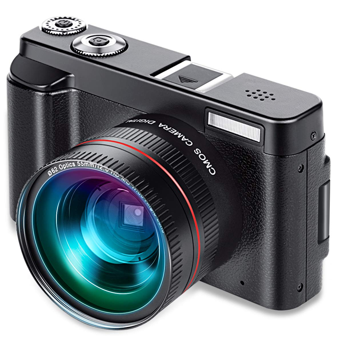 Vlogging Camera, Video Camcorder FHD 1080p 24MP Digital Camera WIFI YouTube  Camera Camcorder With Wide Angle Lens, 180 Degree Rotation Flip Screen,
