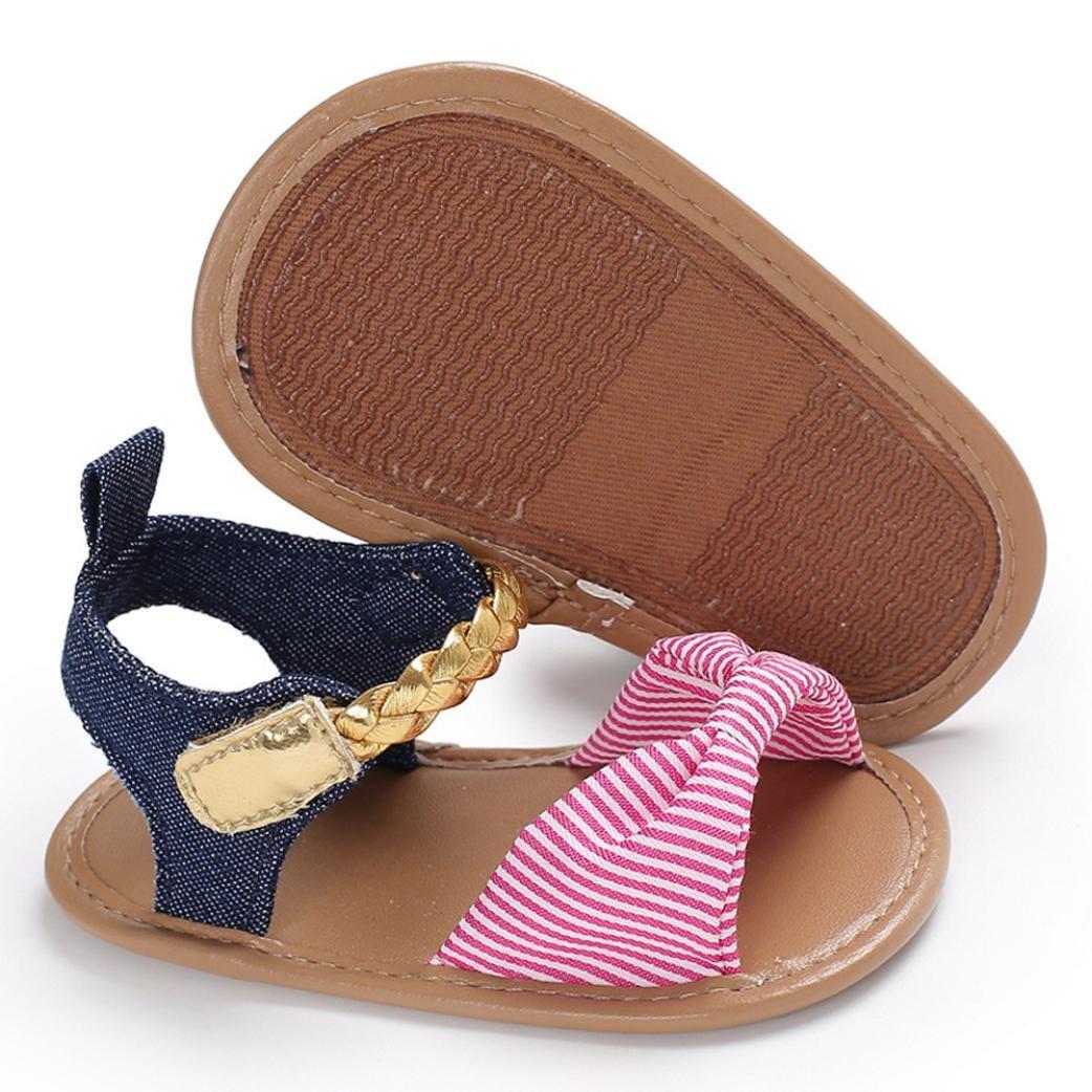cinnamou Baby Sandalen Woven Schuh Sommer Freizeitschuhe Outdoor Sneaker Cartoon Anti-Rutsch-weiche Sohle Kleinkind Schuhe 6~12 Monate, Marine