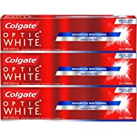 3-Count Colgate Icy Fresh Optic White Whitening Toothpaste, 5 Ounce