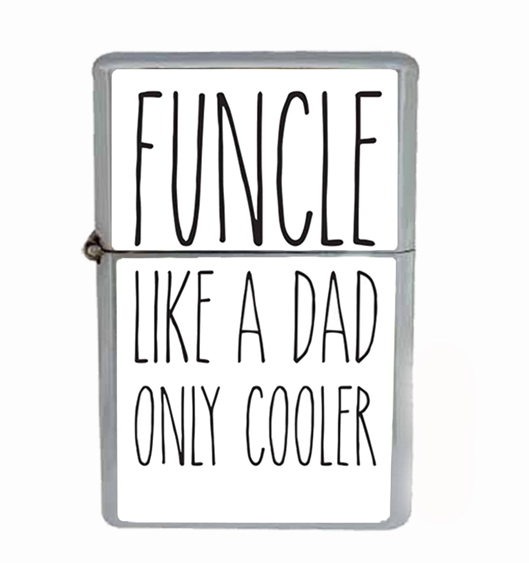 Funcle Fun Uncle Funny Flip Top Oil Cigarette Lighter