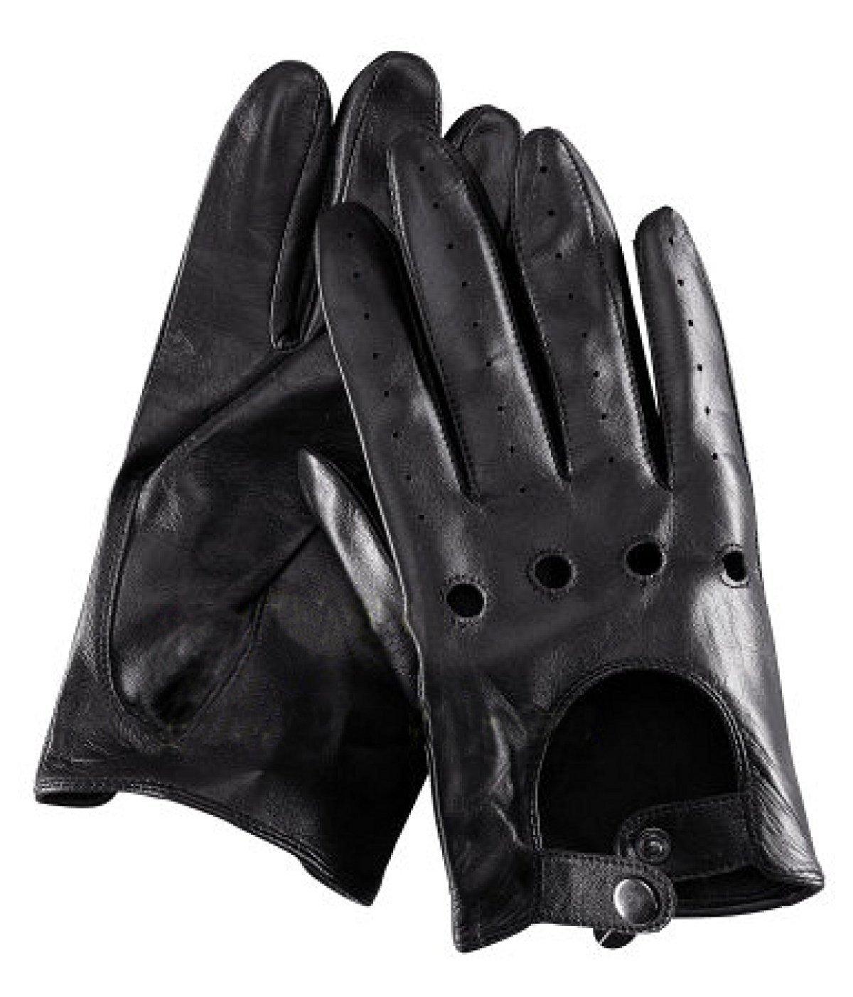 GAYY Männer fahren Leder Motorrad Handschuhe Sonnencreme Reiten rutschfeste Shortship,Schwarz,Mittel