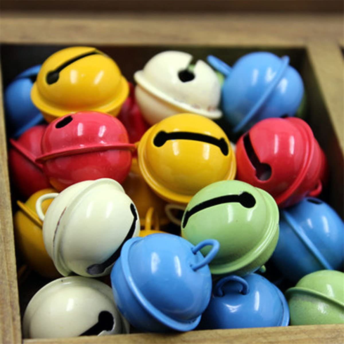 22mm ECYC 20Pcs Colorful Jingle Bell DIY Crafts Loose Beads Bells Christmas Decor