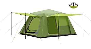 f92b3f136e Image Unavailable. Image not available for. Colour: KingCam CAMP KING 8-person  2-room Instant Camp Cabin Tent ...