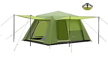 KingCamp Tienda para 8 Personas Pop Up Montaje Fácil 3000mm Impermeable Carpa Ignifuga para Camping Familiar