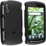 GTMax Hard Rubber Snap On Protector Cover Case - Black For Verizon Sony Ericsson Xperia Play R800
