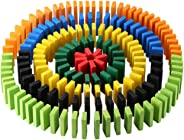 Click N' Play 300-piece 100% Real Wooden Domino Blocks Set, Racing Toy Game, Building and Stacking Toy Blocks