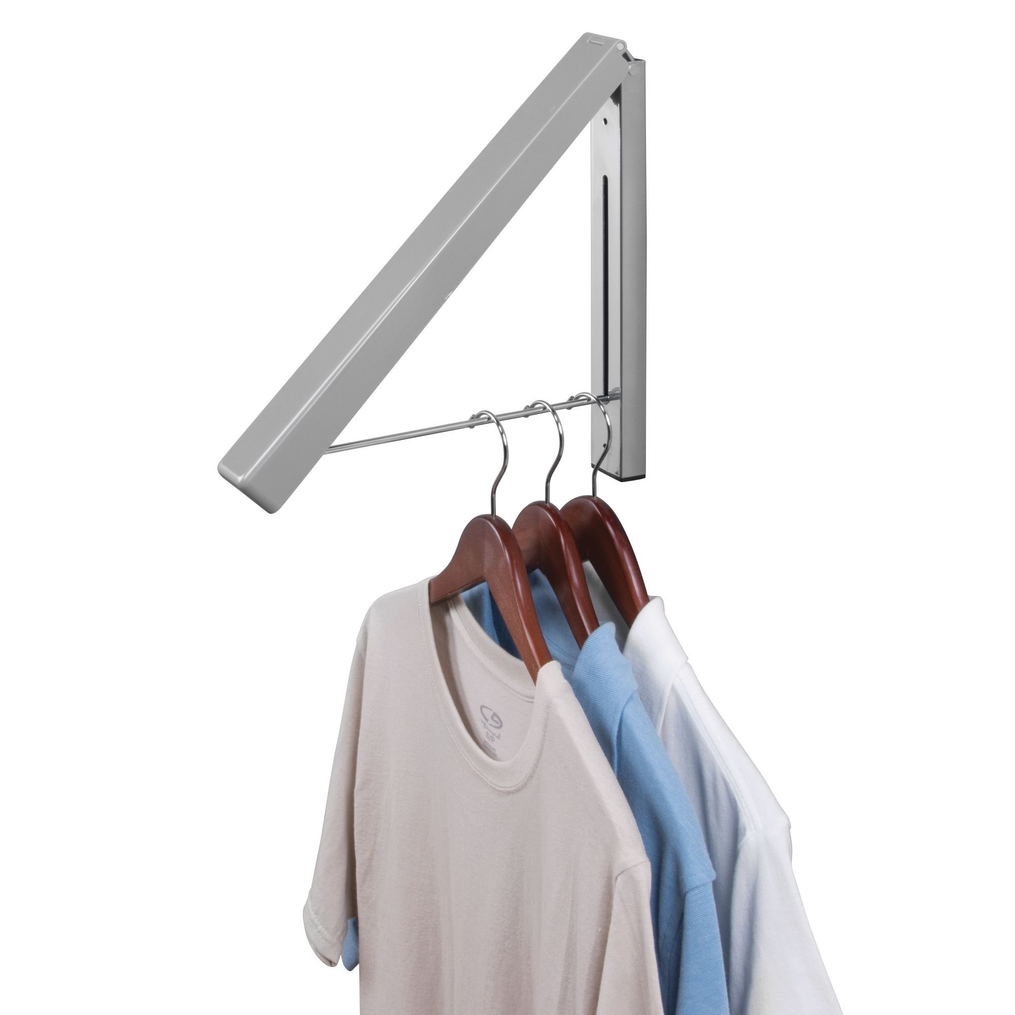 Laundry Room Wall Mount Clothes Hanger For Dry Cleaning