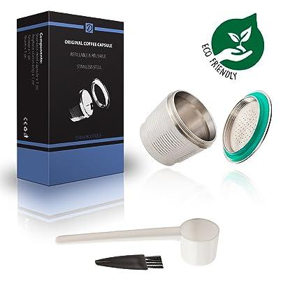Cápsula reutilizable Nespresso - Acero inoxidable - Con accesorio para cafetera de cápsulas