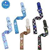 Philonext 5 Pack Bunte Schnuller Clips, neue stilvolle Design Superior Qualität Universal Safe Schnuller Zahnen Spielzeug Halter für Jungen und Mädchen, Baby Dusche Geschenke