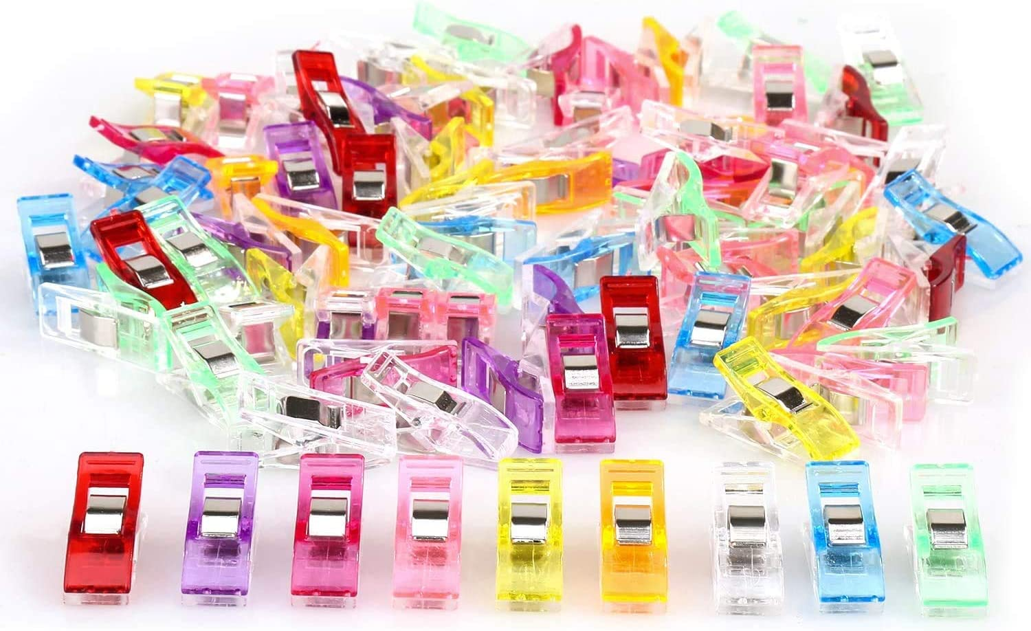 Multipurpose Sewing Quilting Clips Perfect Multipurpose for Sewing Binding,Crafts,Fabric,Paper Work and Hanging Little Things Sewing Clips(100pcs)