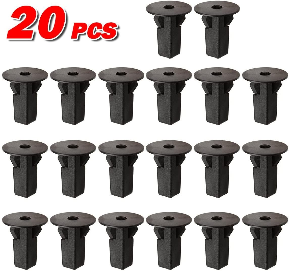 100pcs MOTOALL Nylon Hood Bumper Fender Liner Front Spoiler Trim Panel Shield Retainer Fastener M5.5#12 Screw Grommet Rivet Clips for 9mm x 9mm Hole Toyota Lexus 90189-06065