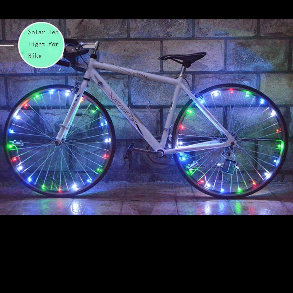 Mr Teck - Luces LED para Rueda de Bicicleta (luz Solar, Correa LED ...