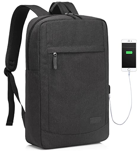 d84d284297 Amazon.com  17 inch Laptop Backpack for Men with USB Charging Port  Lightweight Slim Business Computer Rucksack with Waterproof Rain Cover   Computers   ...