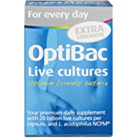 OptiBac For Every Day EXTRA | High Strength 20 Billion CFU Multi-Strain Formula | Lactobacillus Acidophilus NCFM | Vegan & Gluten Free | 30 Capsules