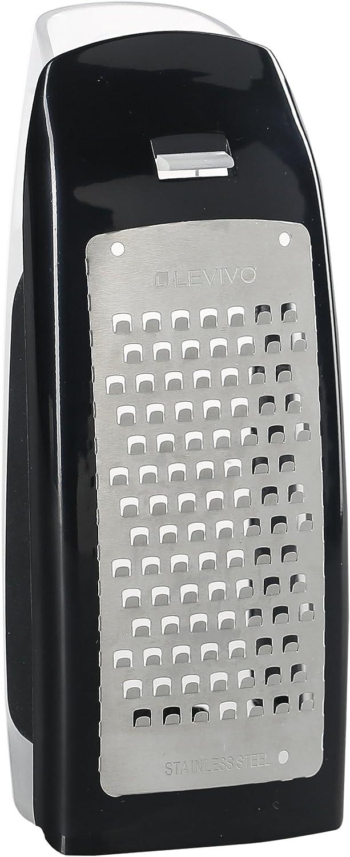 accessori per grattugia formaggio acciaio inox nero 7,5x5,5x16,5cm Levivo Set per grattugia set per mandolina formaggio 4 pz. aggiunta mandolina formaggio accessori grattugia formaggio 4 pezzi