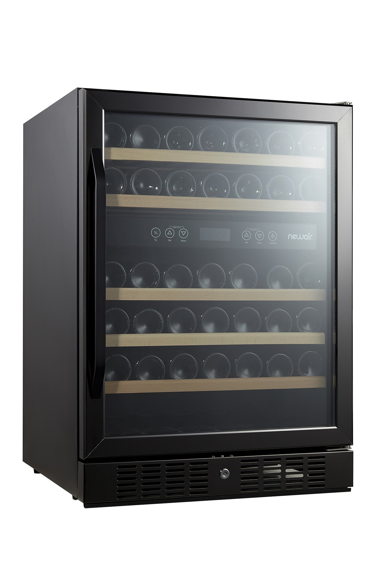 NewAir AWR-460DB-B Dual Zone 46 Bottle Built in Wine Cooler, Black Stainless Steel