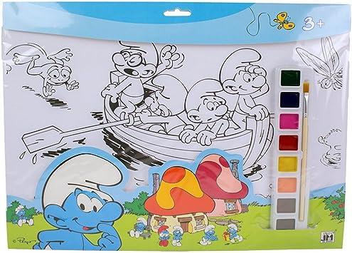 Guizmax Set De Coloriage Schtroumpf Peinture 8 Couleurs 10 Dessin Pinceau Disney Amazon Fr Jeux Et Jouets