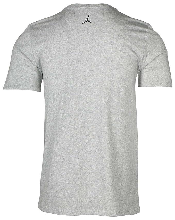 1fdc19a0e7a Amazon.com: Jordan MJ MONDAY'S TEE mens workout-and-training-shirts 801603-063_L  - DK GREY HEATHER/BLACK: Sports & Outdoors