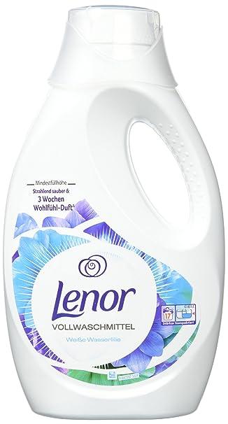 Lenor Vollwaschmittel Flüssig Weiße Wasserlilie, 3,74 l, 4er Pack (4 ...