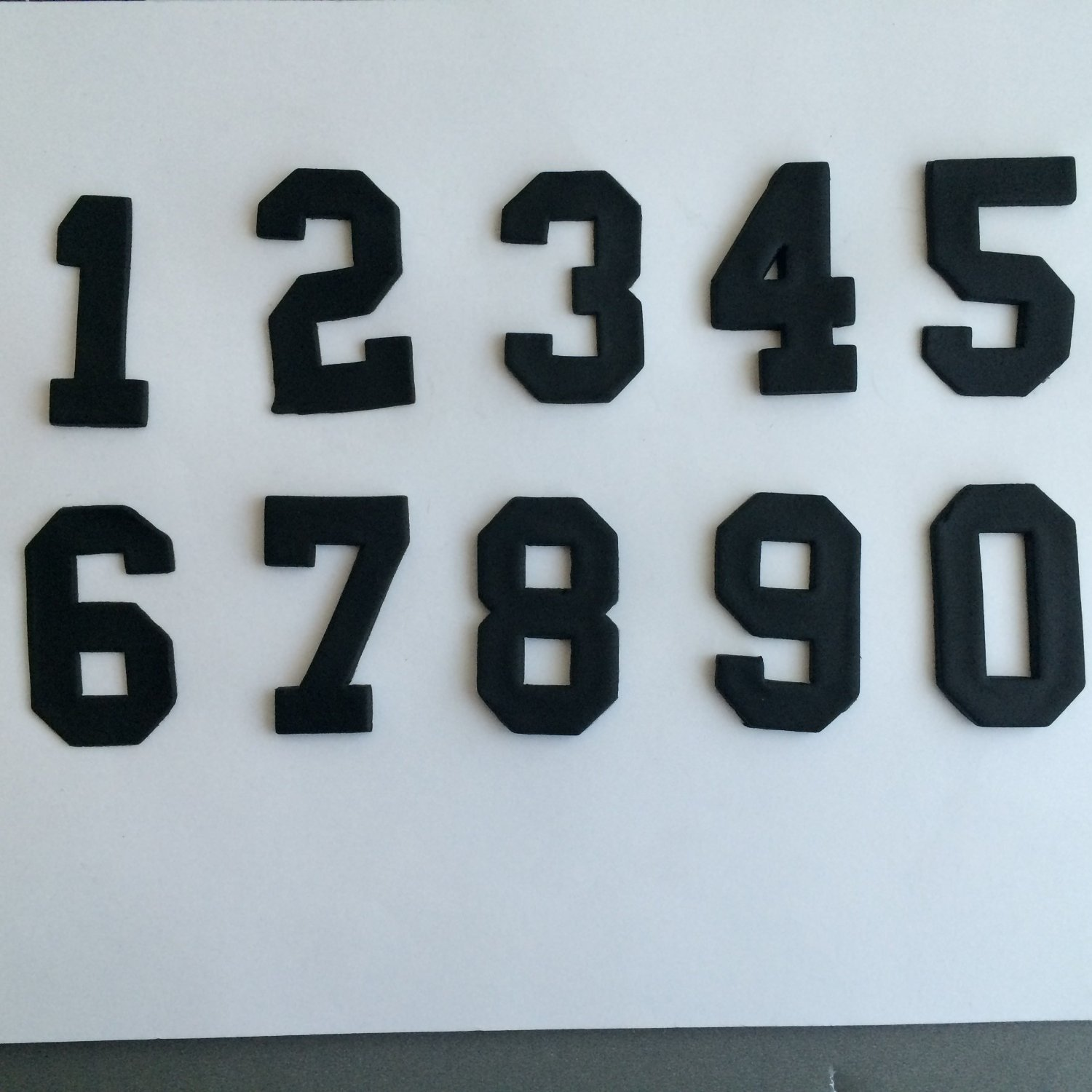 College Font Number Cookie Cutter Set (1 inch)