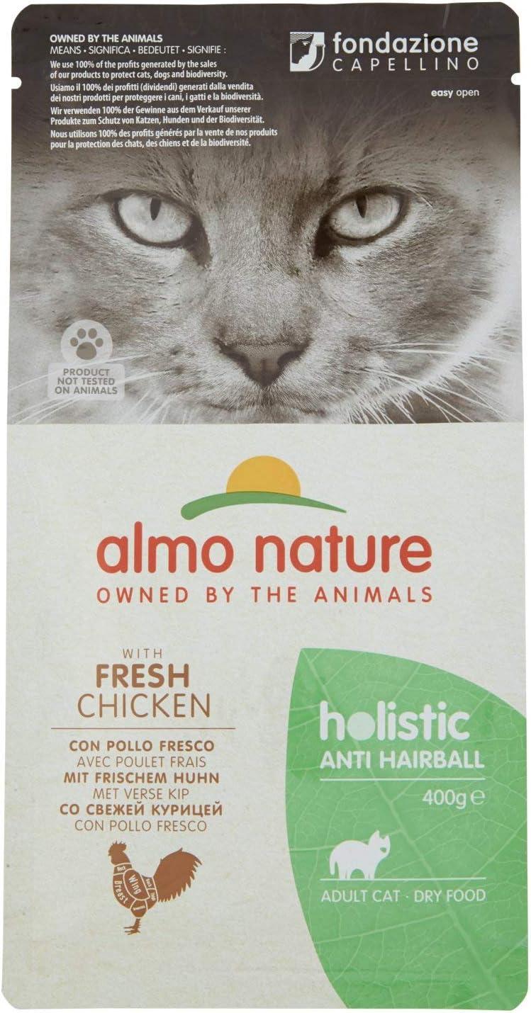 Almo Nature Cat Dry PFC Holistic Anti Hairball Pollo, 400 g