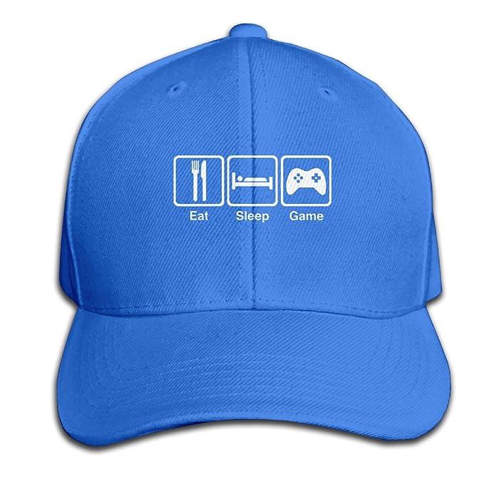 Cool comer dormir juego repetición Comillas simples ajustable gorras de béisbol: Amazon.es: Ropa y accesorios