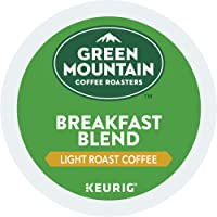 Green Mountain Coffee Roasters Breakfast Blend Single-Serve Keurig K-Cup Pods, Light Roast Coffee, 72 Count (6 Boxes of 12 Pods)