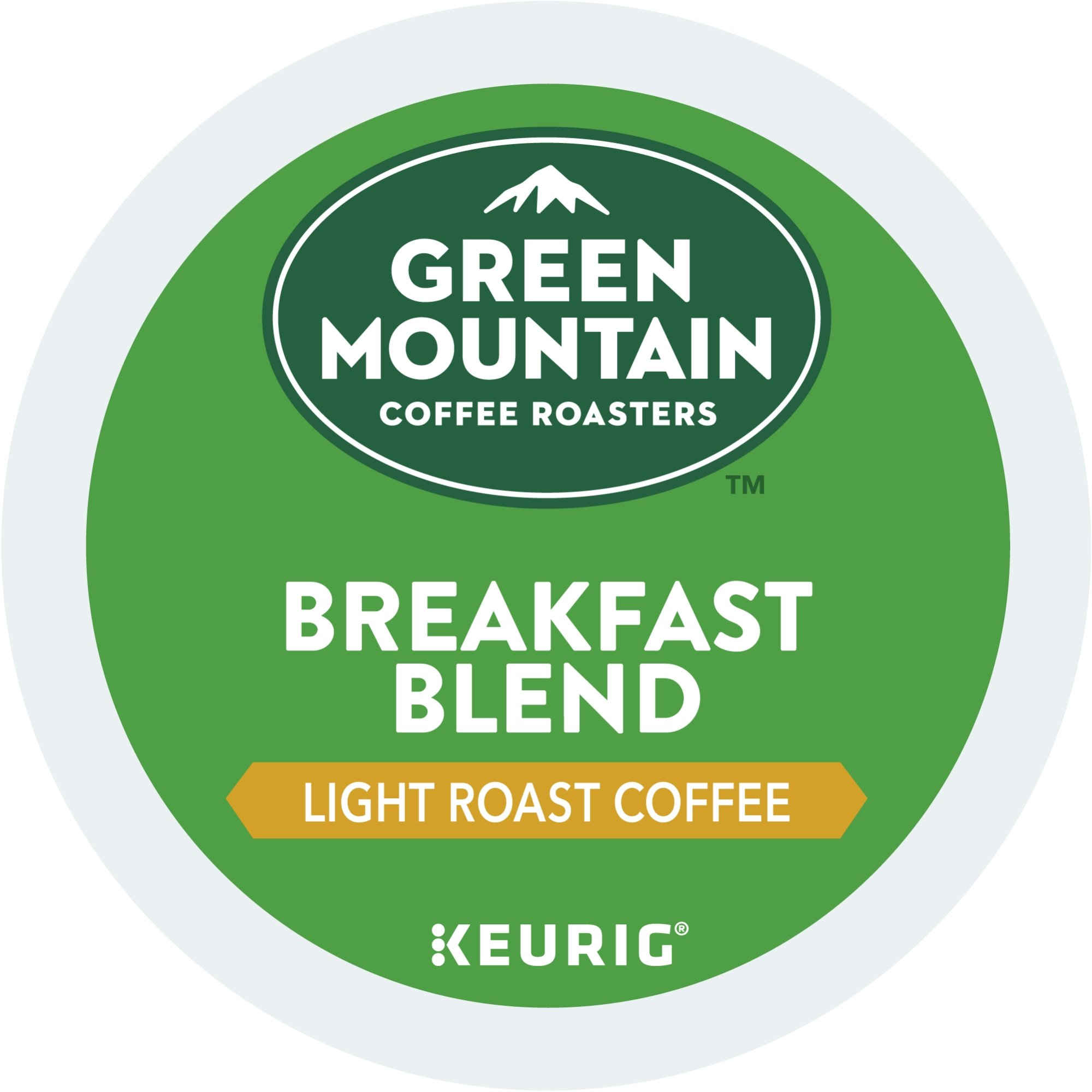 Green Mountain Coffee Roasters Breakfast Blend Keurig Single-Serve K-Cup Pods, Light Roast Coffee, 24 Count