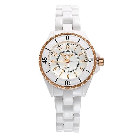 Reloj mujer lancardo reloj cuarzo reloj pulsera reloj Original pulsera cerámica reloj mujer pas barato etanche: Amazon.es: Relojes