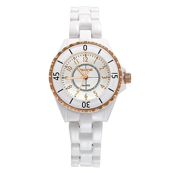 Reloj mujer lancardo reloj cuarzo reloj pulsera reloj Original pulsera cerámica reloj mujer pas barato etanche