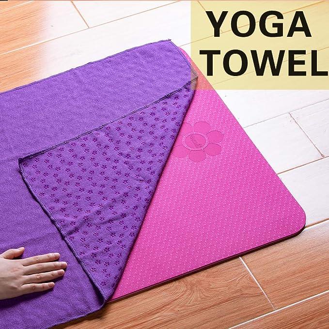 HROYL Toallas de Yoga Microfibra Suave,Super Absorbente y ...