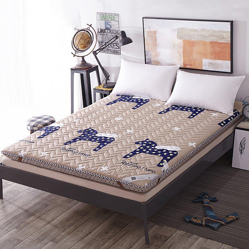 DULPLAY 綿 マットレス パッド,な 単色 スリップ 厚く マットレス トッパー,式 畳 洗える ベッド マットレス -C 90 * 200cm B07JVD9S82 C 90*200cm