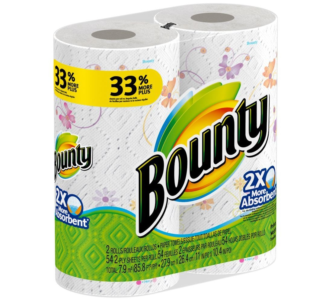 Amazon.com: Bounty Print Paper Towels 2 Big Rolls: Health & Personal Care