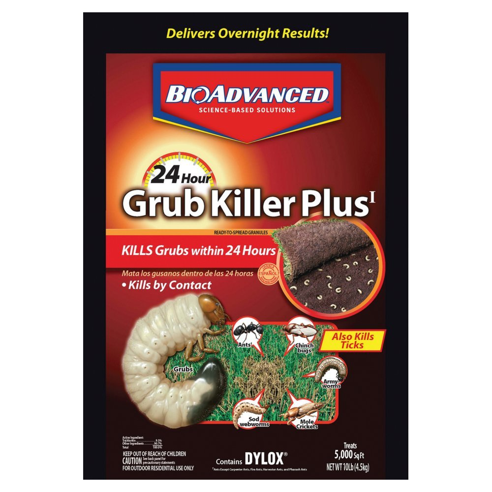 Bayer Advanced 700750 24 Hour Grub Killer Plus Granules, 10-Pound by BioAdvanced