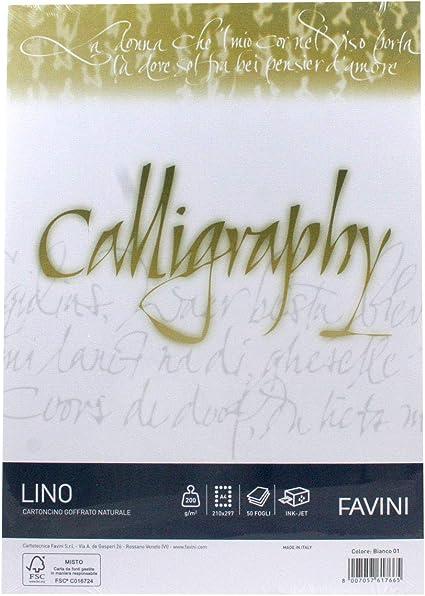 25 Pezzi 12 x 18 mm Favini 027007.14 Busta Calligraphy Bianco 90 Gr