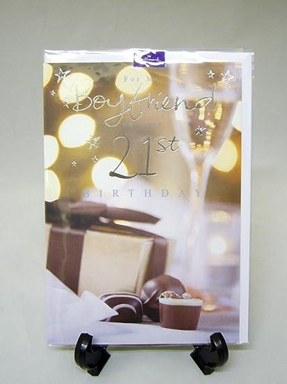 Amazon Hallmark Boyfriend 21st Birthday Card Kitchen Dining