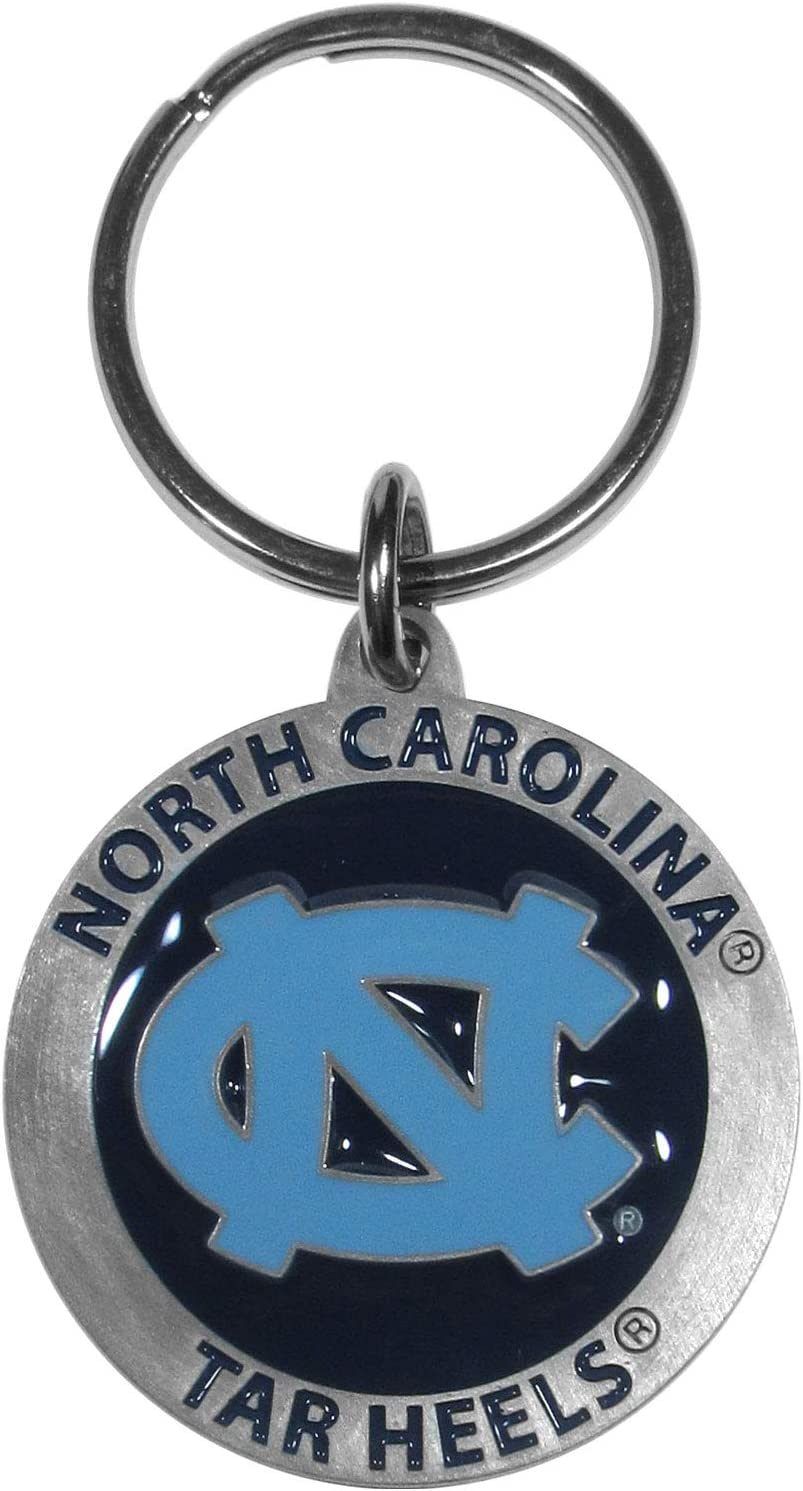 NCAA Siskiyou Sports Fan Shop North Carolina Tar Heels Carved Metal Key Chain One Size Team Color : Sports Related Key Chains : Sports & Outdoors