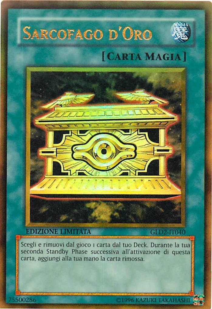 Limited Edition GLD2-IT040 Yu-Gi-Oh! Sarcofago Doro Oro Serie ORO 2009