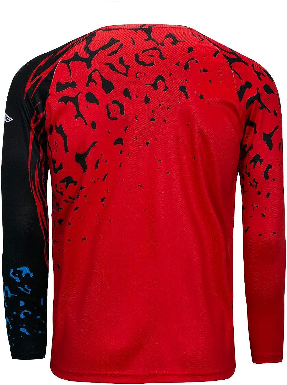PSPORT Mens Cycling Sweatshirt MTB Road T-Shirt Long Sleeve Mountain Bike Motorcycle Bike Jersey Tops UV Protection