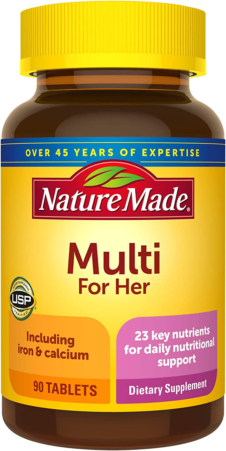 Nature Made Women's Multivitamin Tablets, 90 Count for Daily Nutritional Support (Pack of 3)