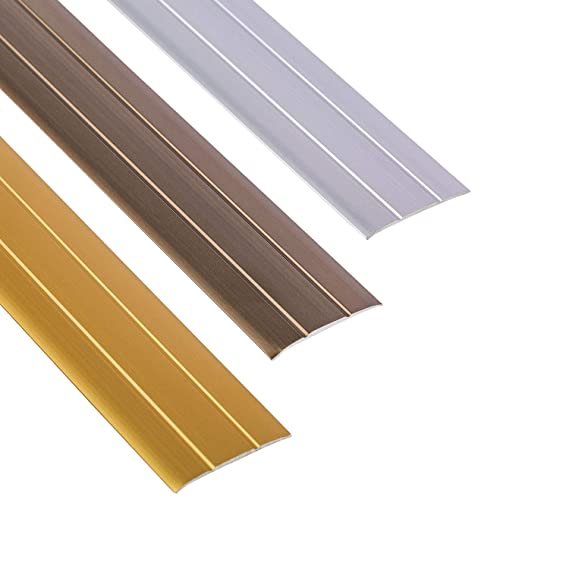 Brass Plated Self-Adhesive Flooring Threshold Strip30mm x 830mm-30mm x 930mm