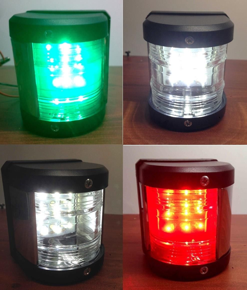 Marine Masthead Stern Starboard Port LED Navigation Light 2 Nautical Miles Pactrade Marine