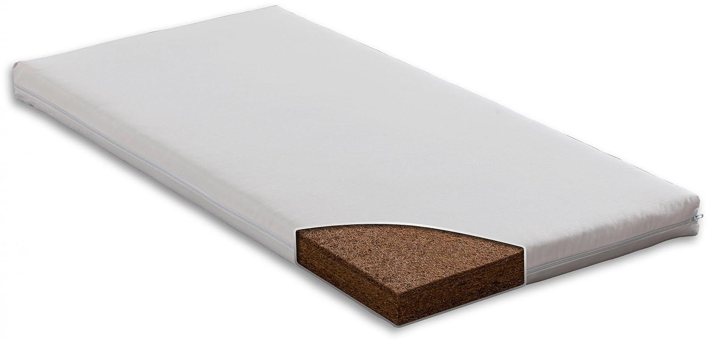 Rêves denfant - Colchón de fibra de coco, lana natural y algodón ecológico para cuna (70x140 cm): Amazon.es: Bebé