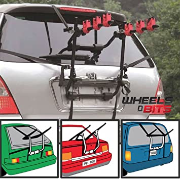 UNIVERSAL 3 BICYCLE REAR MOUNT CARRIER CAR RACK BIKE CYCLE NEW