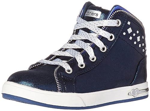Skechers Kids Girls Shoutouts-Zipsters Sneaker (Little Kid/Big Kid), blue
