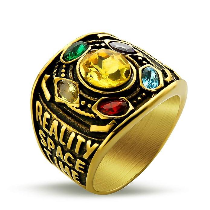 Amazon.com: Valily Marvel Avengers Thanos Anillos de oro ...